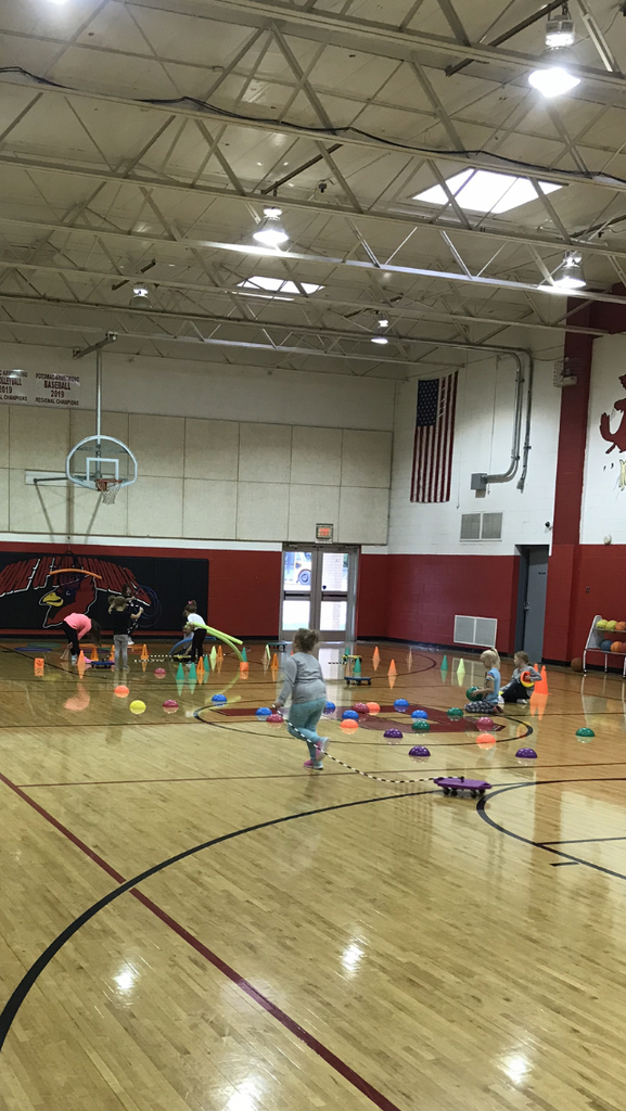 Obstacle course in PE